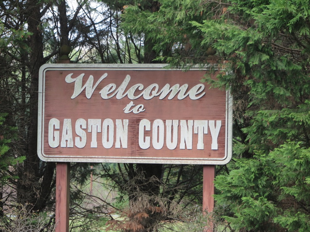 Gaston County Welcome Sign