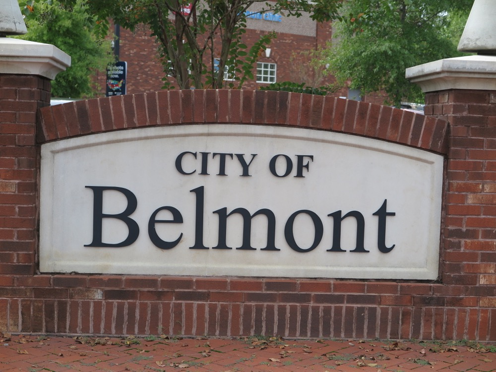 Belmont, NC Welcome Sign