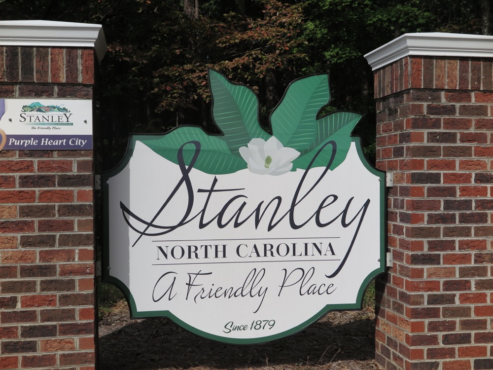 Stanley, NC Welcome Sign