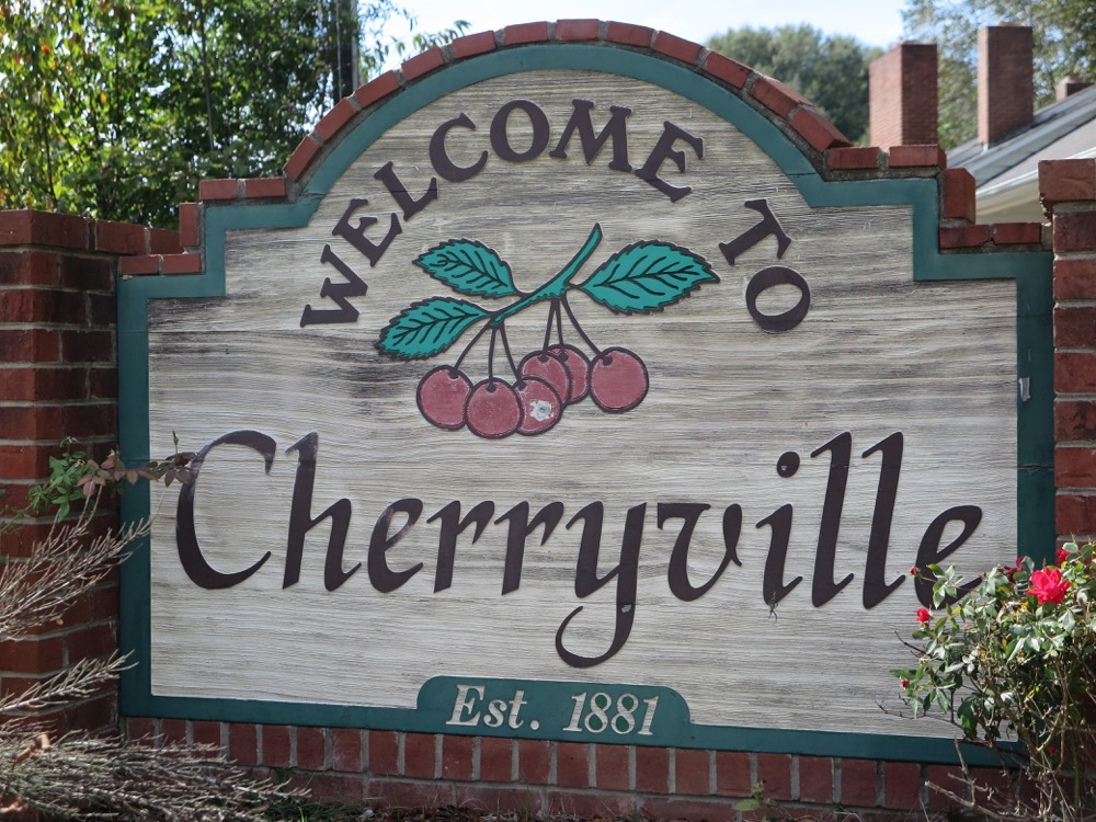 Cherryville, NC Welcome Sign